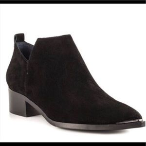 Marc Fisher YAMIR Black Suede Ankle Boots